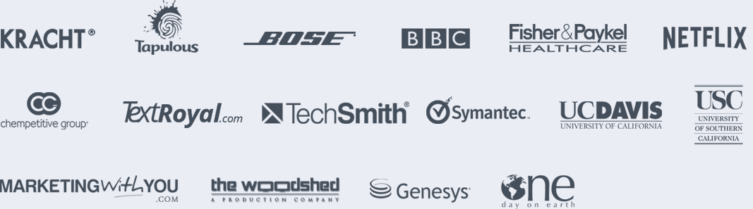 logos of companies that trust GoTranscript.com